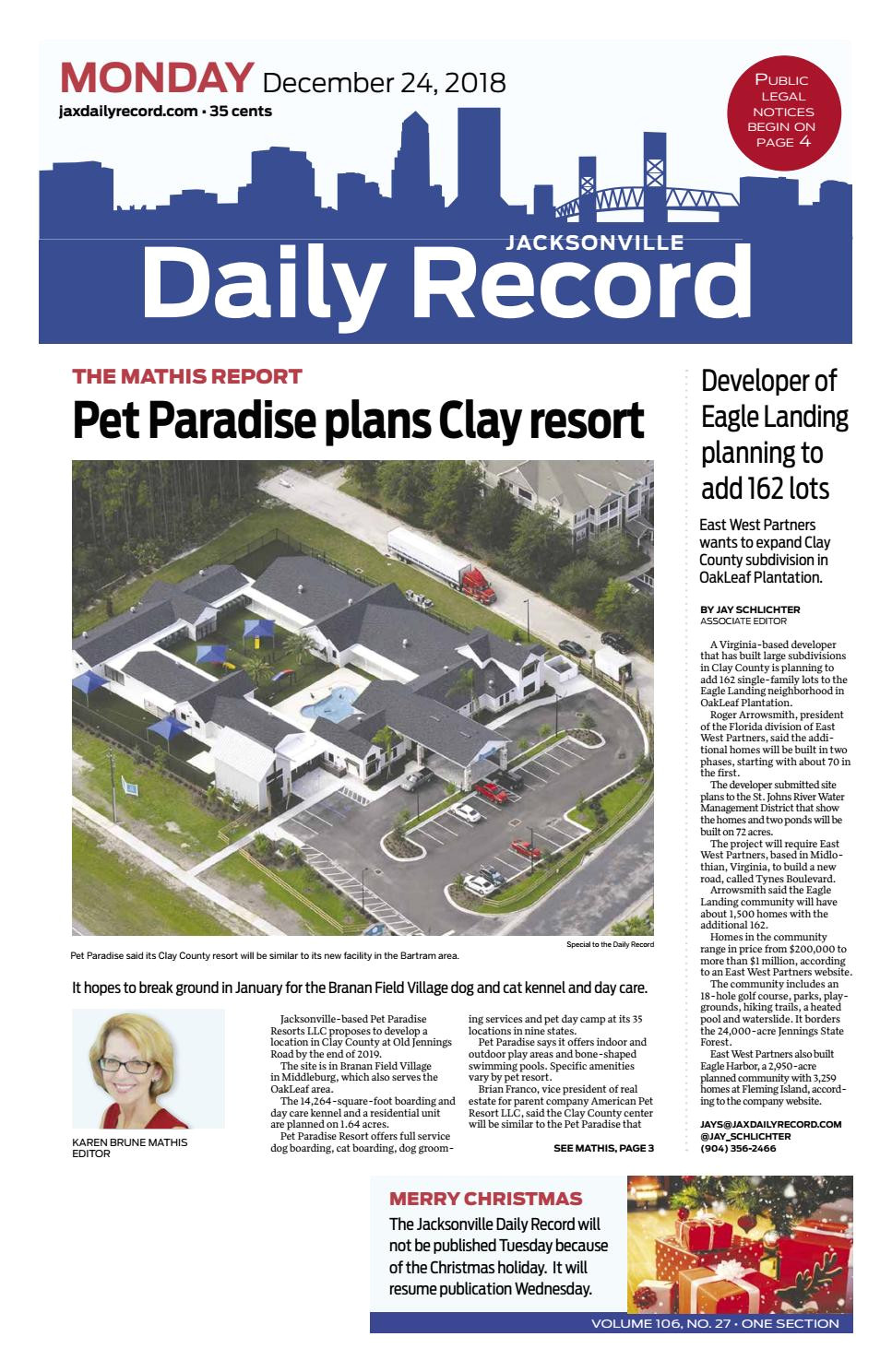 jacksonville daily record 12 24 18 by daily record observer llc issuu