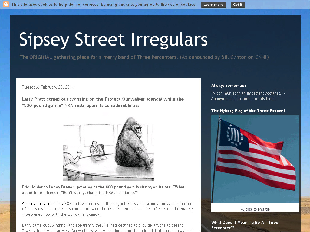 sipsey street irregulars larry pratt comes out swinging on the project gunwalker scandal while the 800 pound gorilla nra rests upon its considerable ass