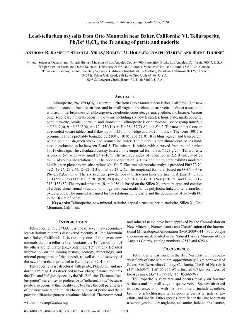 a reinvestigation of sillen x 1 type lead tellurium oxyhalides pb 3teo 4 x 2 x cl br i request pdf