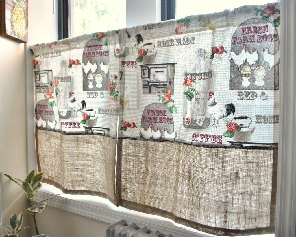 farm fresh eggs cafe curtain panel set