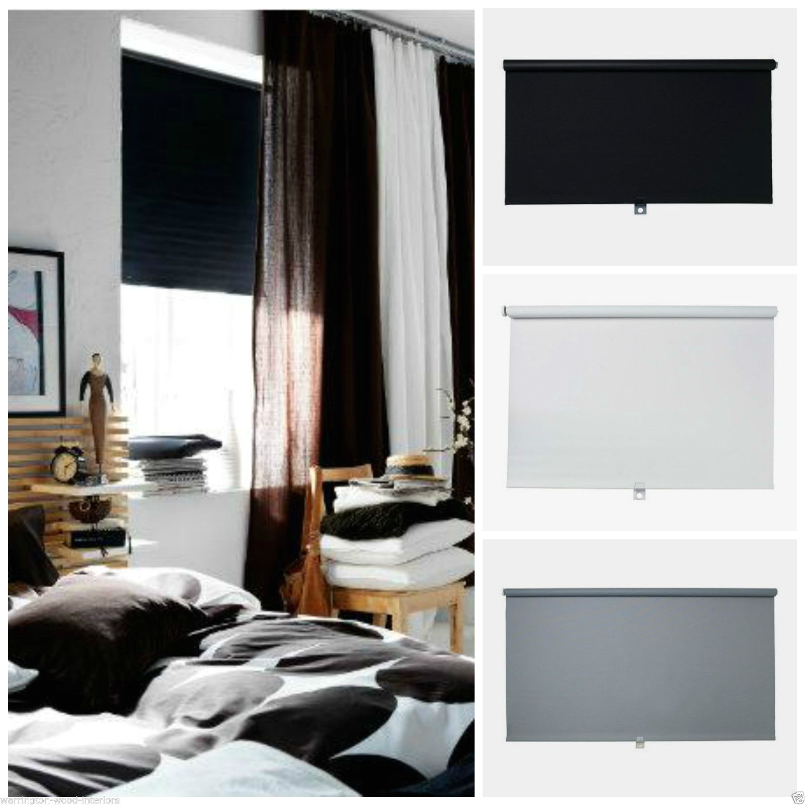Noise Reducing Curtains Ikea Uk Ikea A Tupplur A Blackout Blind A Black White or Grey A New