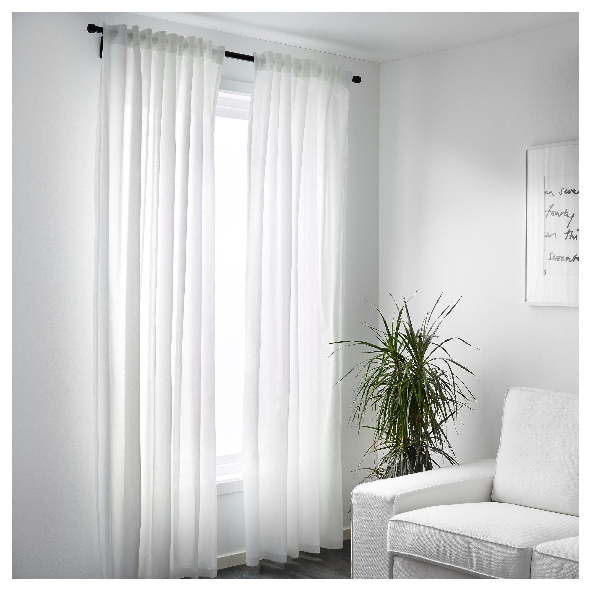 ikea vivan curtains 1 pair white