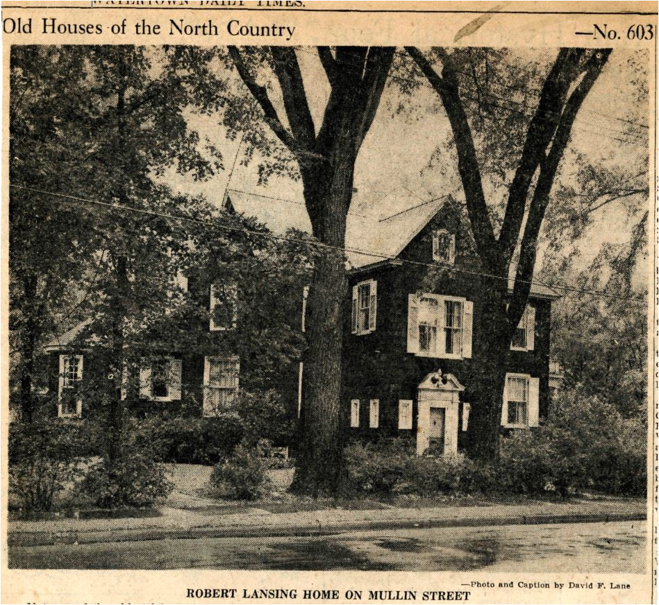 not one of the oldest houses in northern new york but one of the most historic is the residence of dr and mrs walter s atkinson at 146 mullin street
