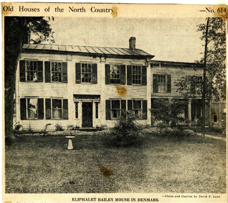 no hamlet of its small size in the north country has more historic houses than denmark built probably at the beginning of the war of 1812 the attractive