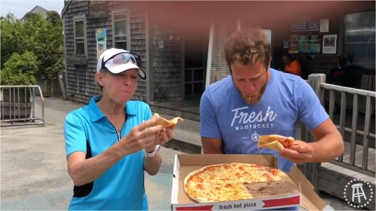 barstool pizza review the muse nantucket with special guest my mom barstool sports