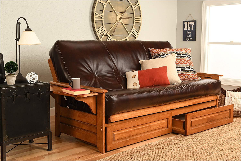 amazon com kodiak furniture kfphdbbotjlf5md4 phoenix futon set with oregon trail java mattress and storage drawers full barbados kitchen dining