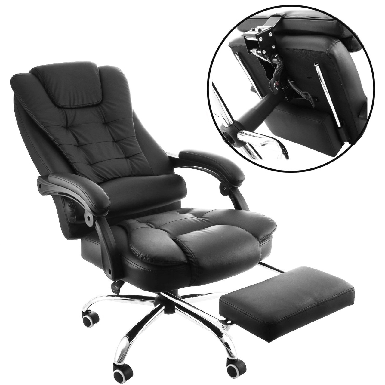 12 photos gallery of agha reclining office chair with footrest