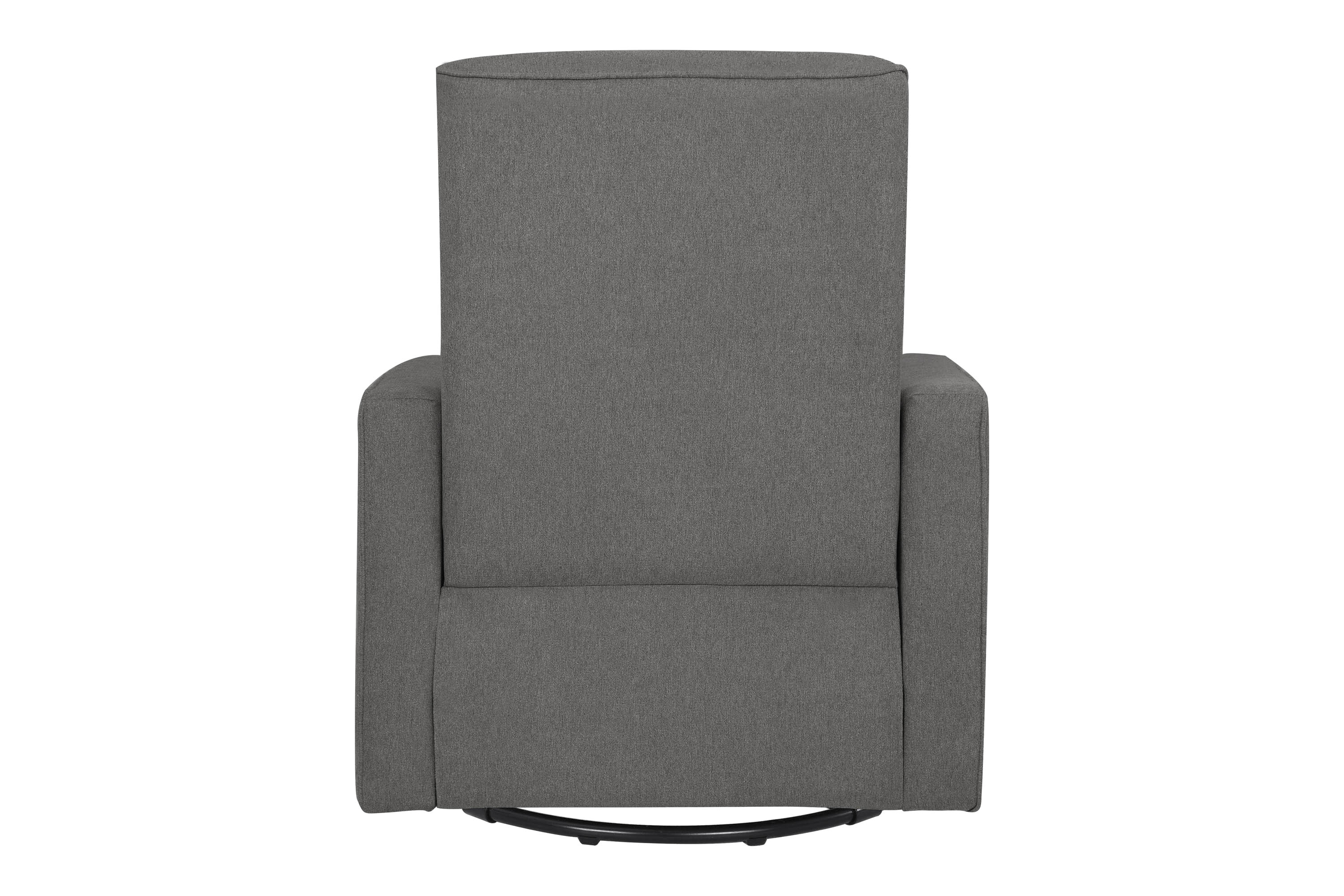 davinci piper recliner and swivel glider in dark grey with cream piping walmart com