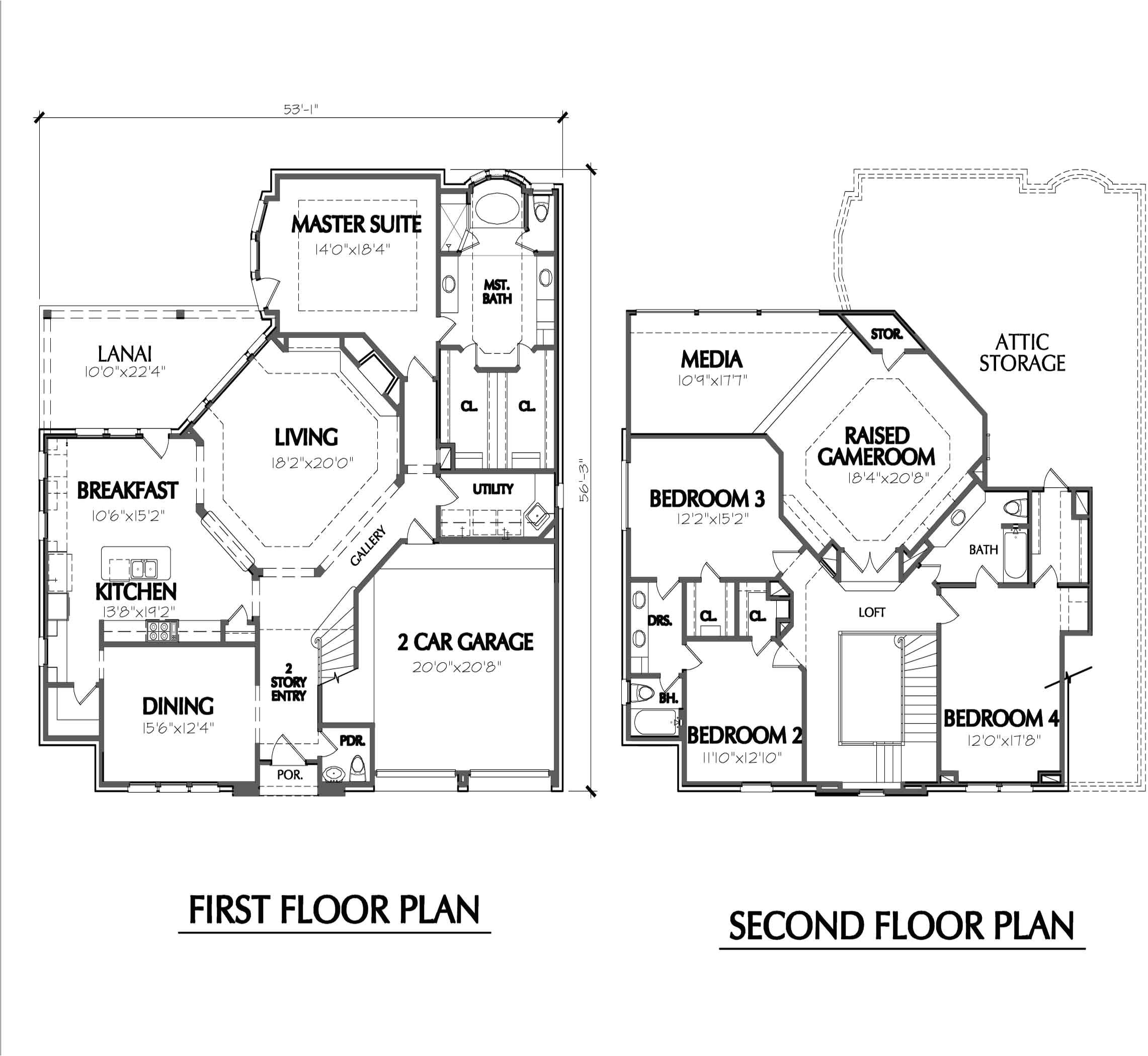 exceptional house plans two story more