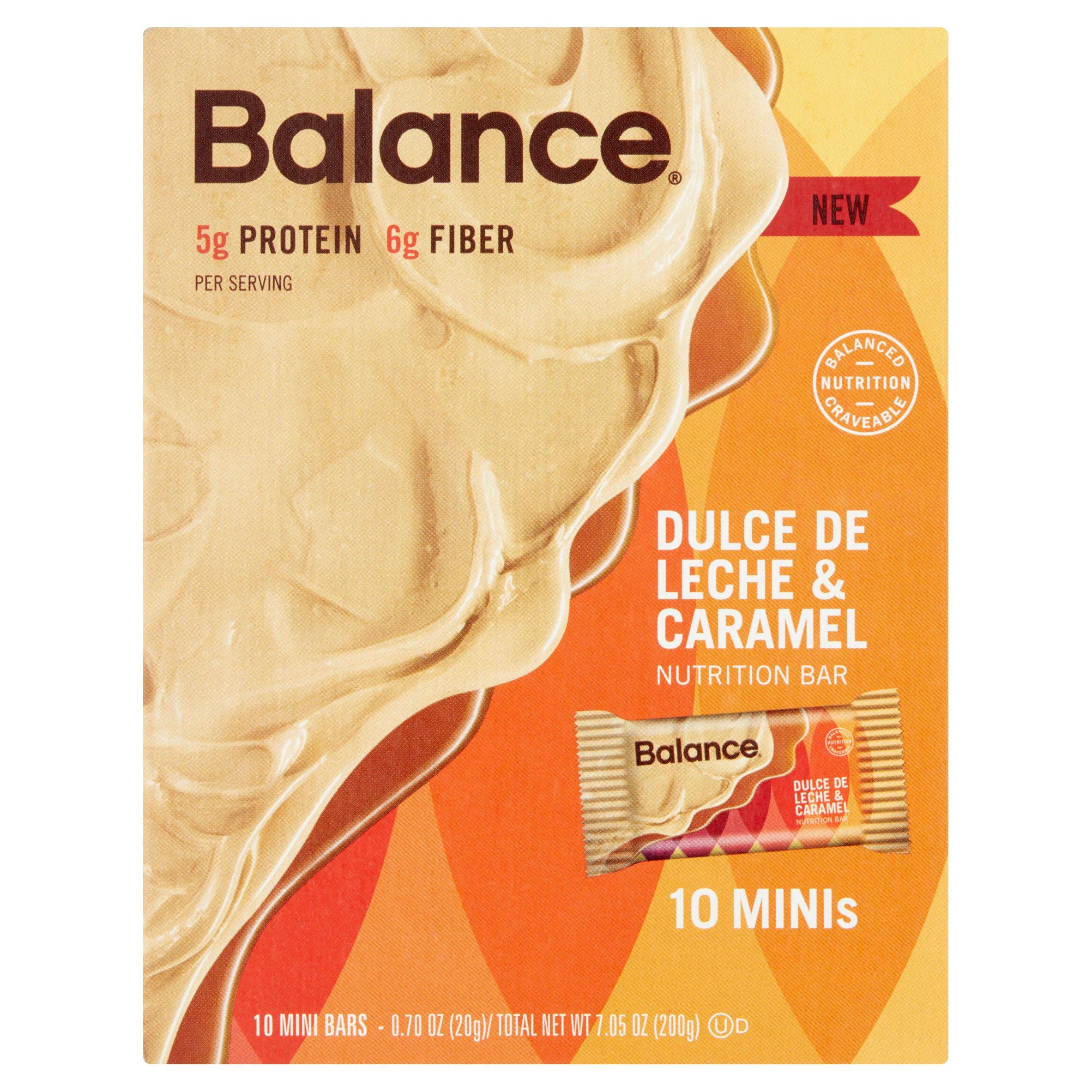 balance dulce de leche caramel nutrition bar 0 70 oz 10 count walmart com