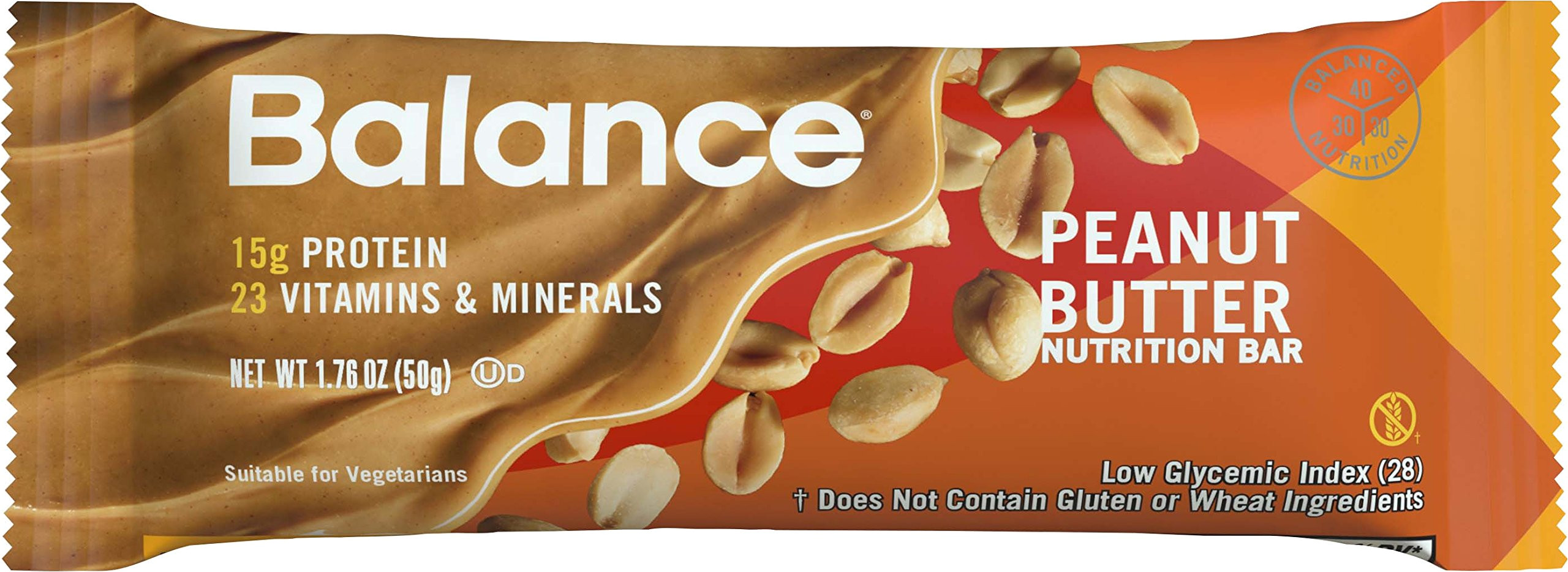 balance bar protein bars healthy snacks to support energy peanut butter 1 76 oz