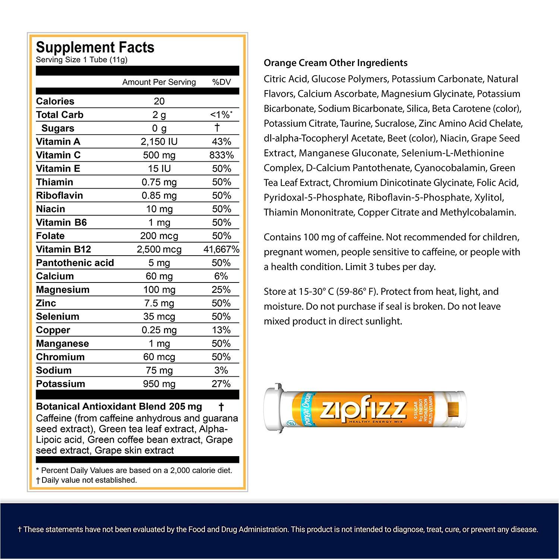 Orange Leaf Gift Card Balance Check Amazon Com Zipfizz Healthy Energy Drink Mix orange Cream 20