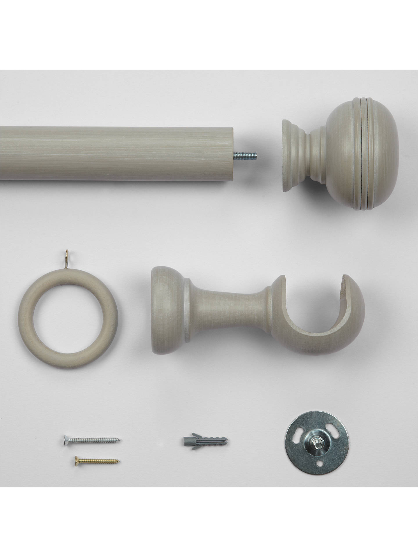 buycroft collection curtain pole kit grey l150cm x dia 35mm online at johnlewis