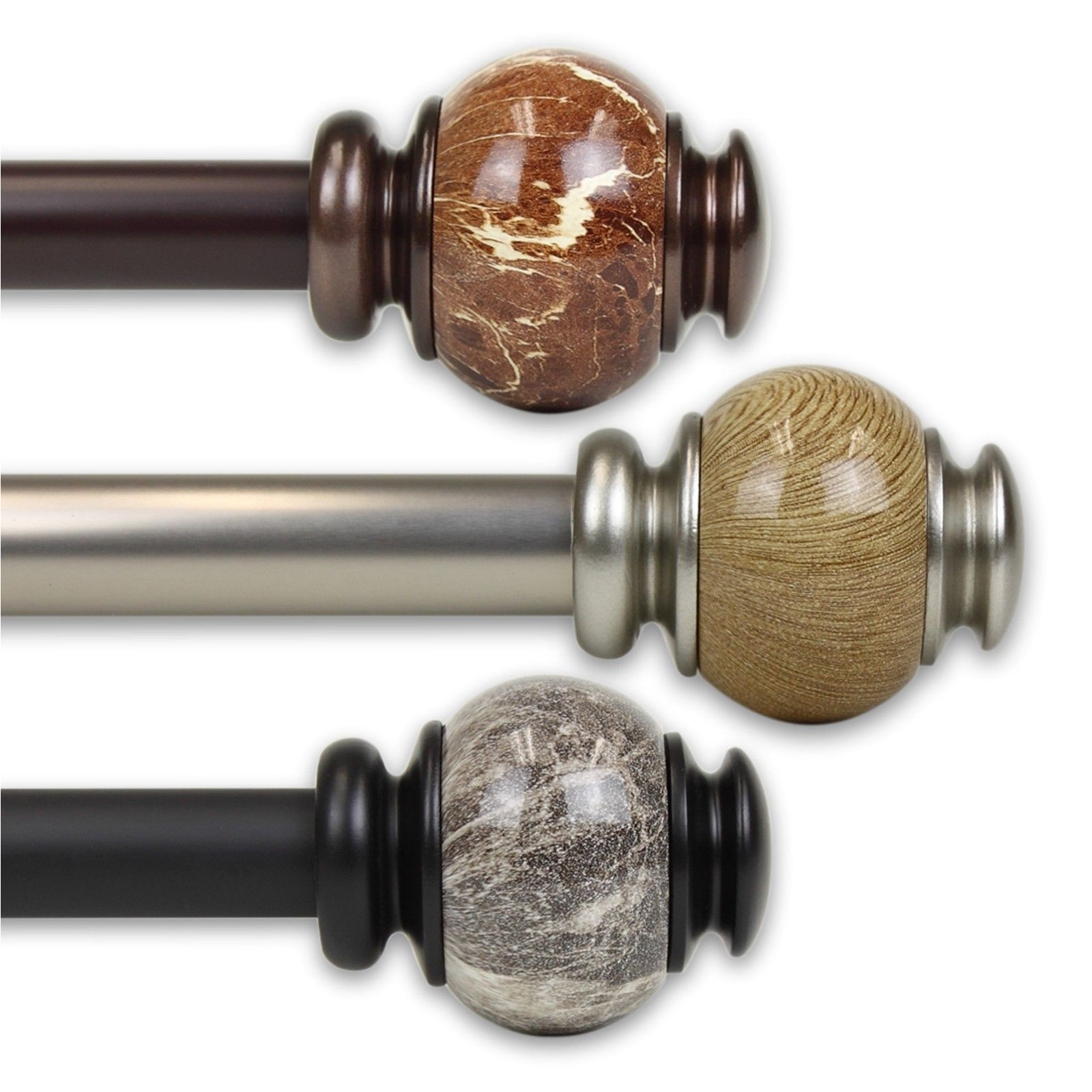 curtain rods and finials 103459 obsidian curtain rod 1 od 10 25 choose
