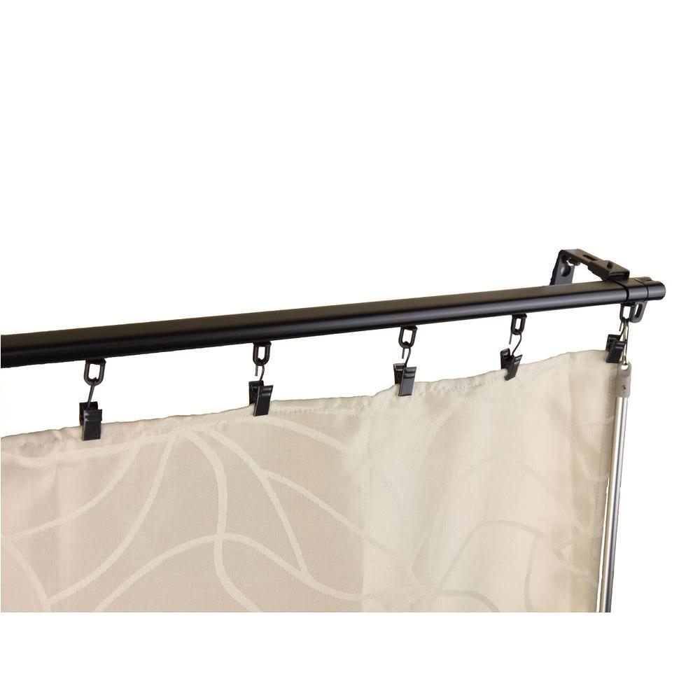 rod desyne 48 in 84 in armor adjustable baton draw track curtain rod