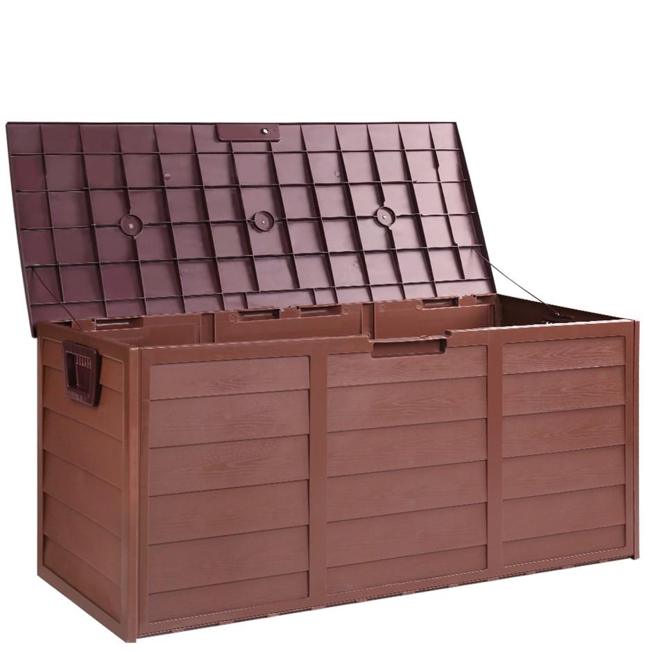 gardeon outdoor lockable storage box chocolate