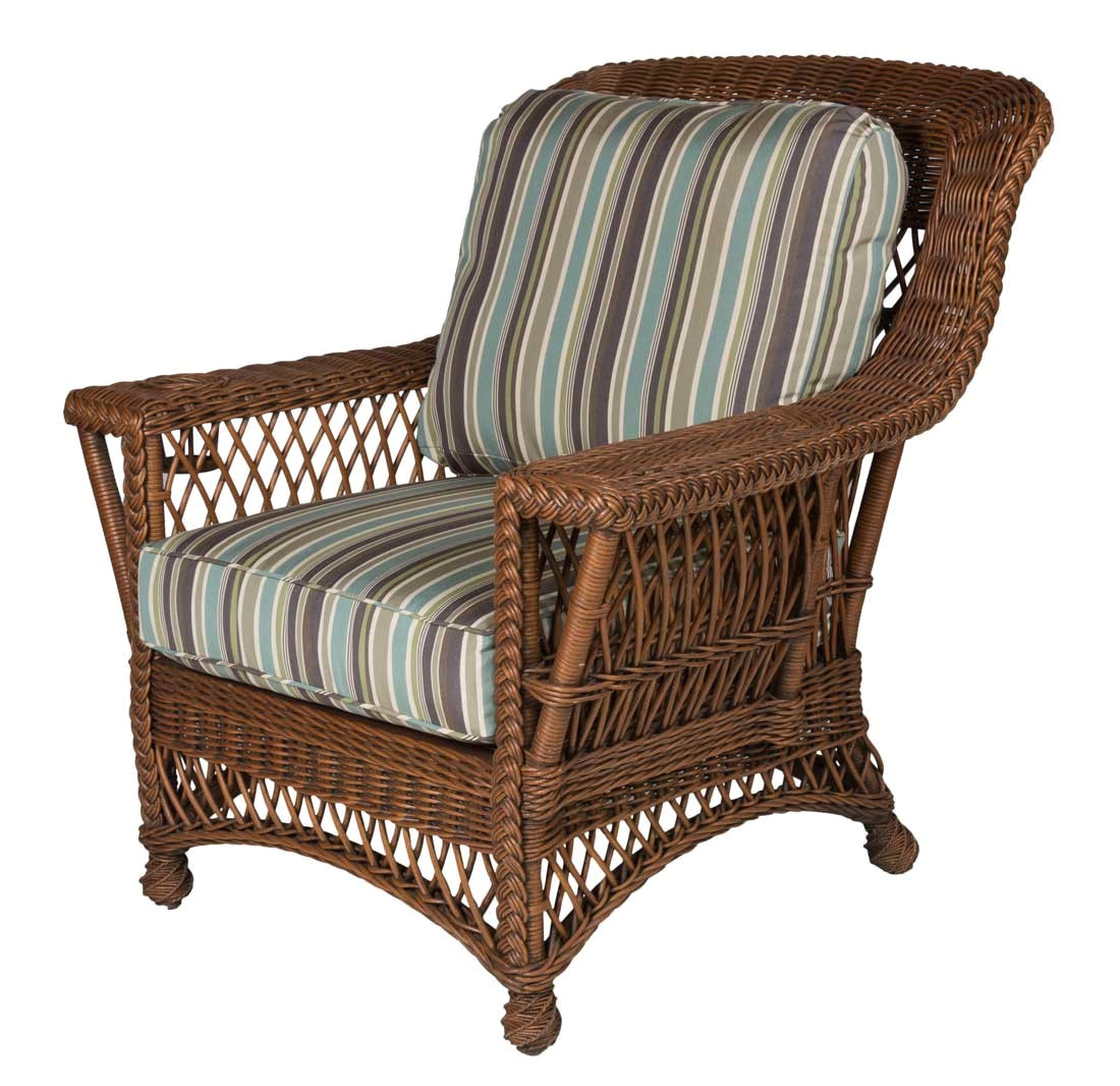 rockport natural wicker chair with magazine glass holder high back coffee
