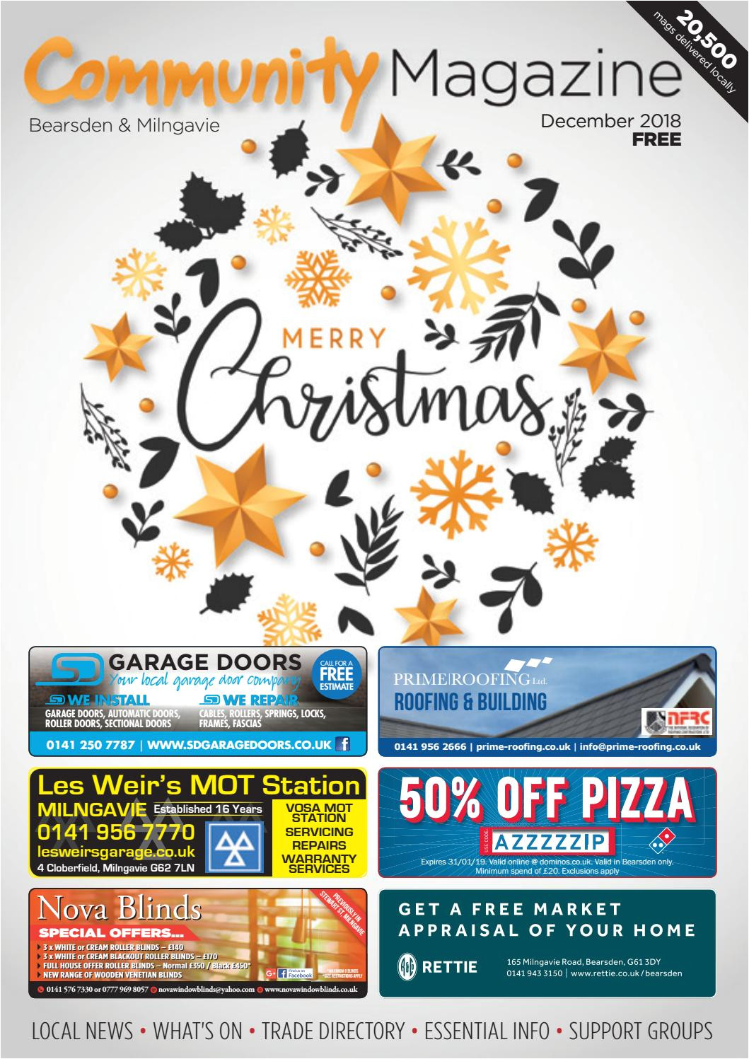 bearsden milngavie community magazine december 2018 by community advertiser magazine issuu