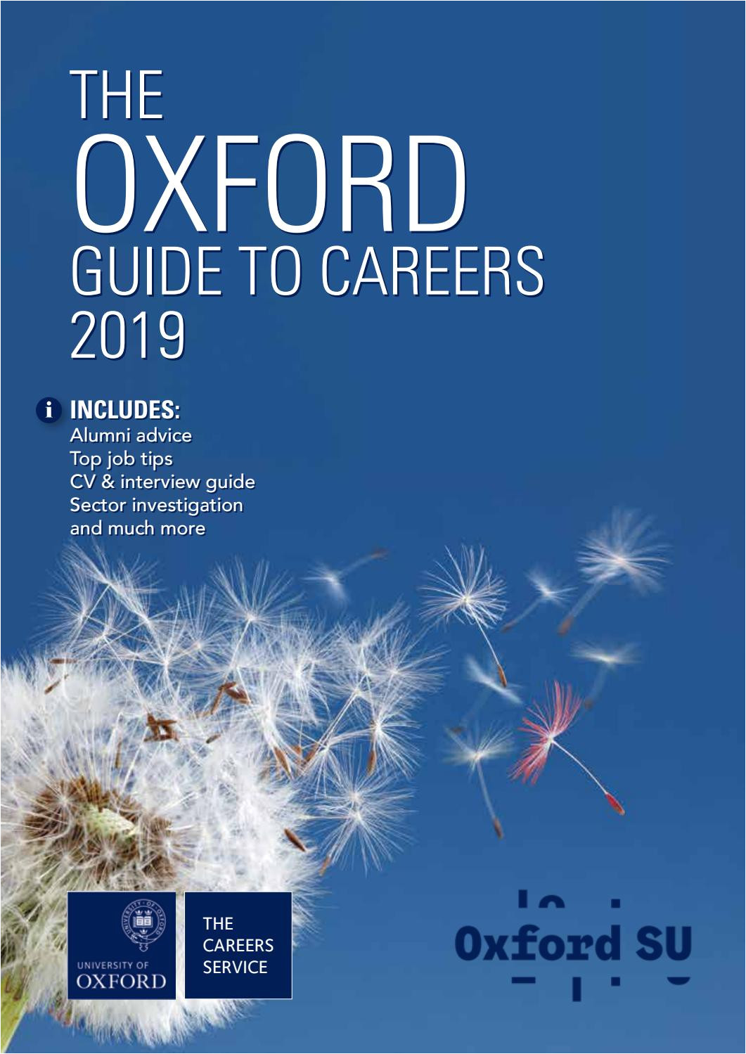 Oxford House San Antonio Vacancies the Oxford Guide to Careers 2019 by Oxford University Careers