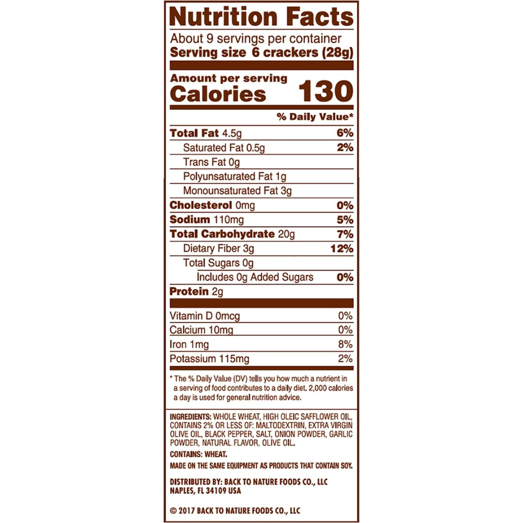 amazon com back to nature non gmo crackers cracked black pepper harvest whole wheat 8 5 ounce