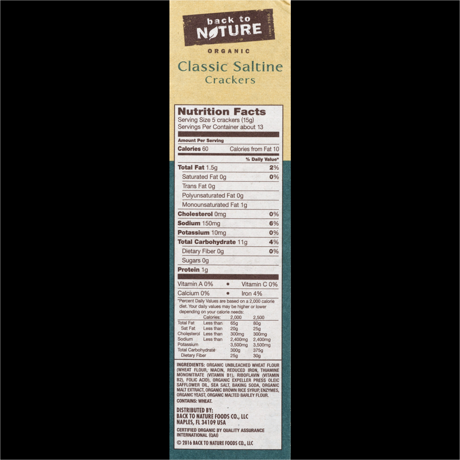 Pack and Ship Naples Fl 34109 Back to Nature organic Saltines 7 Ounce Walmart Com