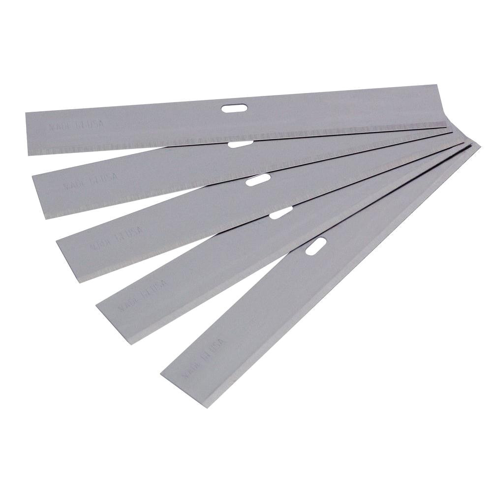 qep 4 in wide replacement blade for razor scrapers and strippers 5 pack