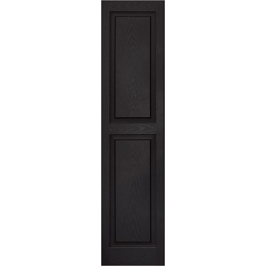 vantage 2 pack black raised panel vinyl exterior shutters common 14 in
