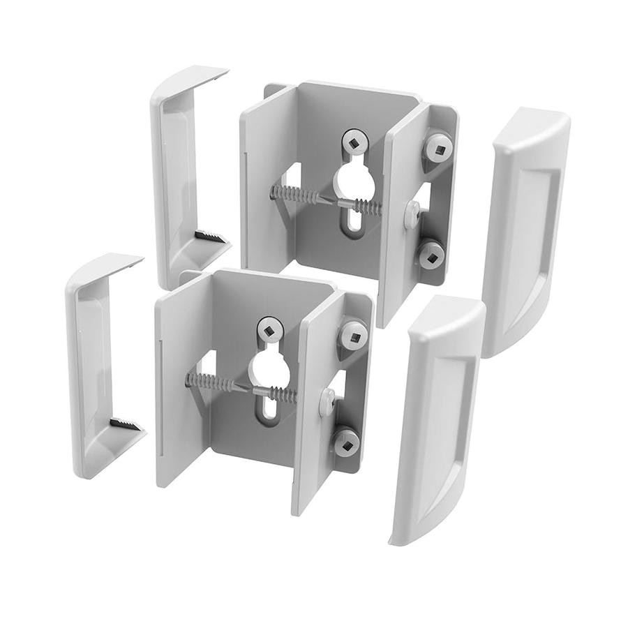 freedom set and secure 2 pack white vinyl fence bracket