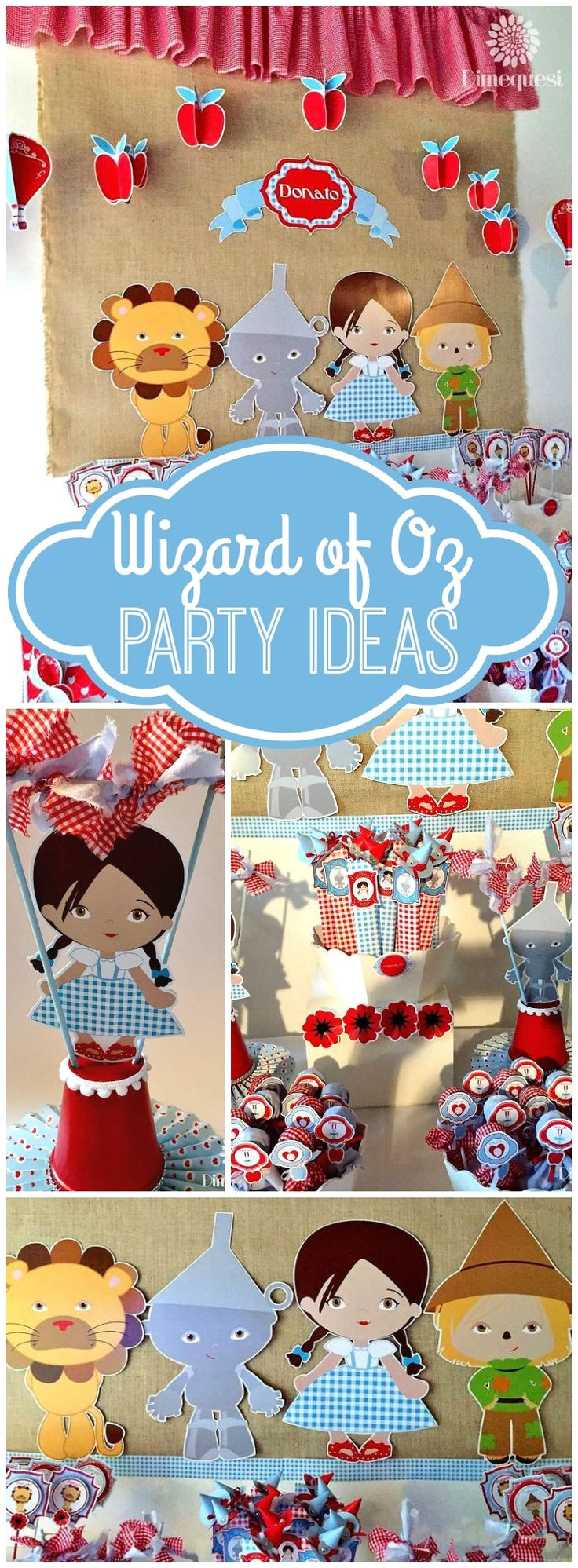 how cute is this wizard of oz girl birthday party see more party ideas