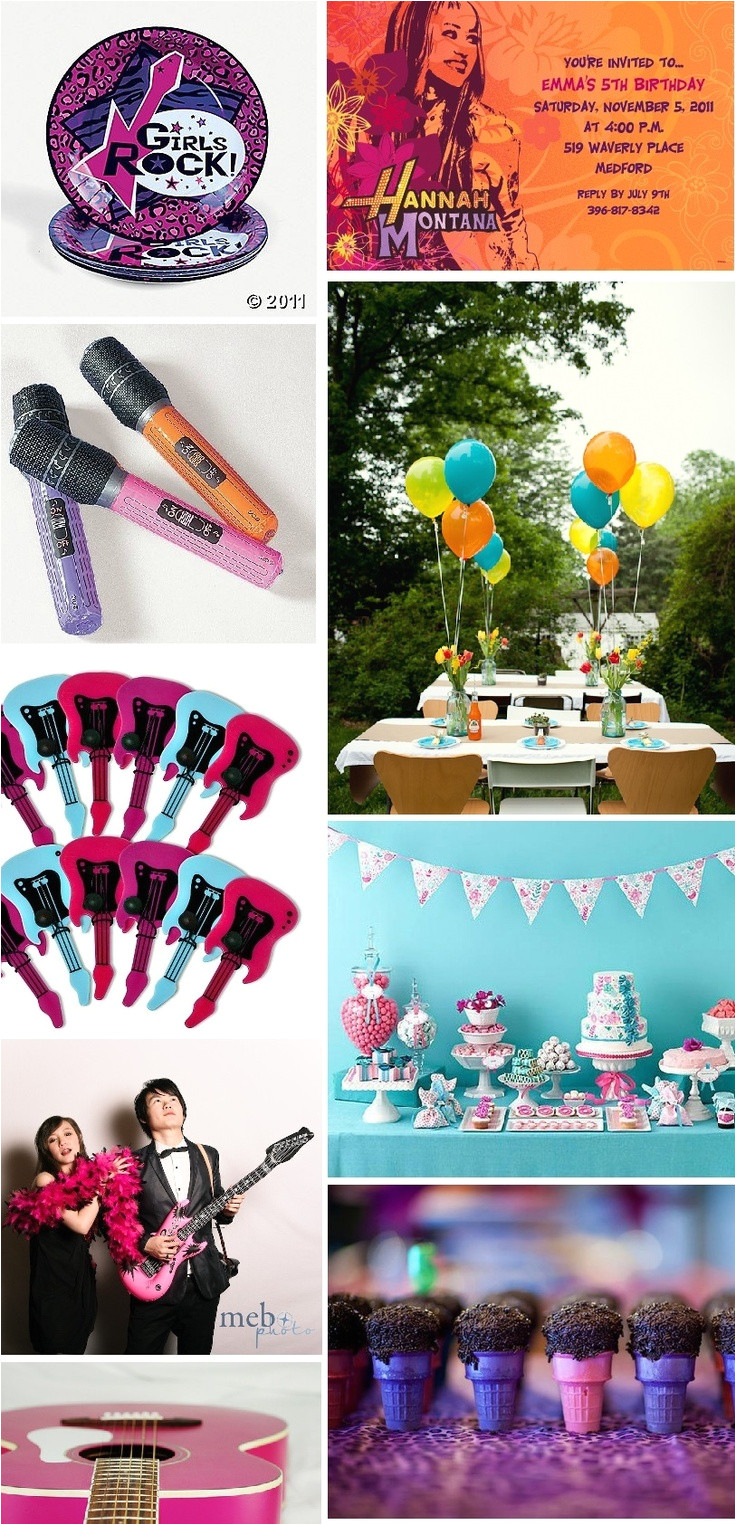 rock star party mood board mondays girls rock star party amanda mae events