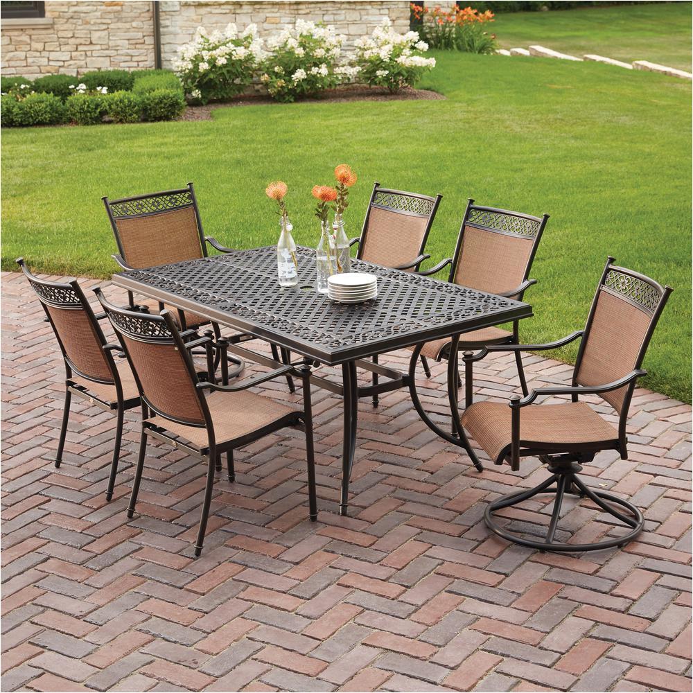 niles park 7 piece sling patio dining set