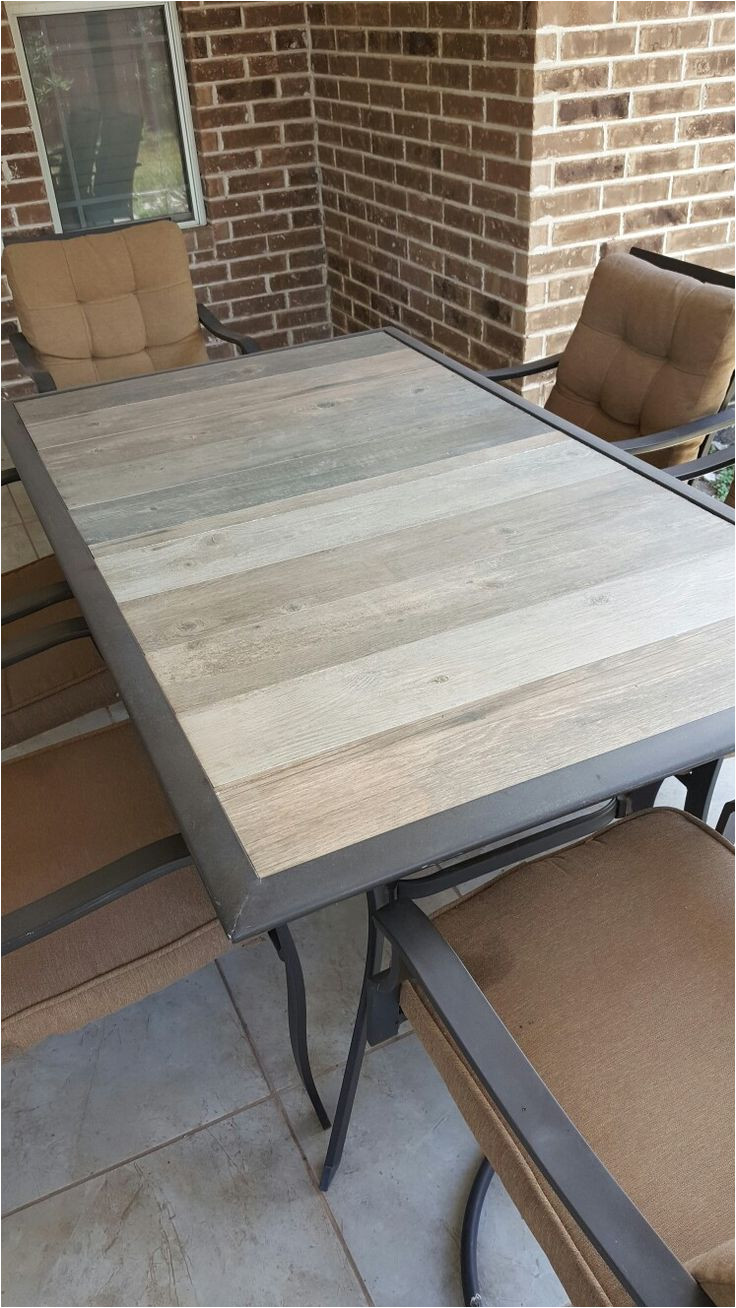 how to repair patio table after glass breaks 2x4 screwed along center for extra support
