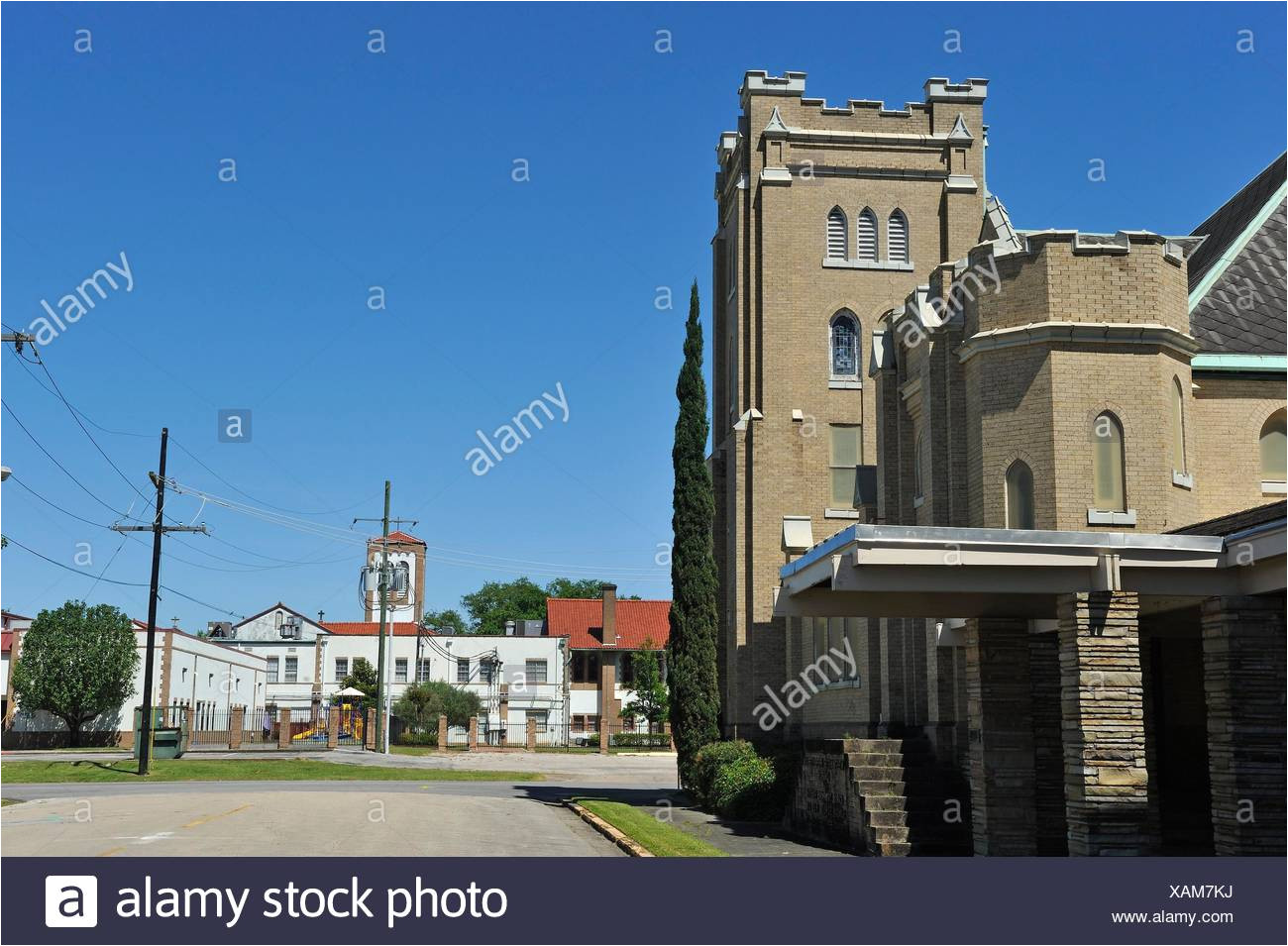 downtown beaumont texas united states of america north america stock image