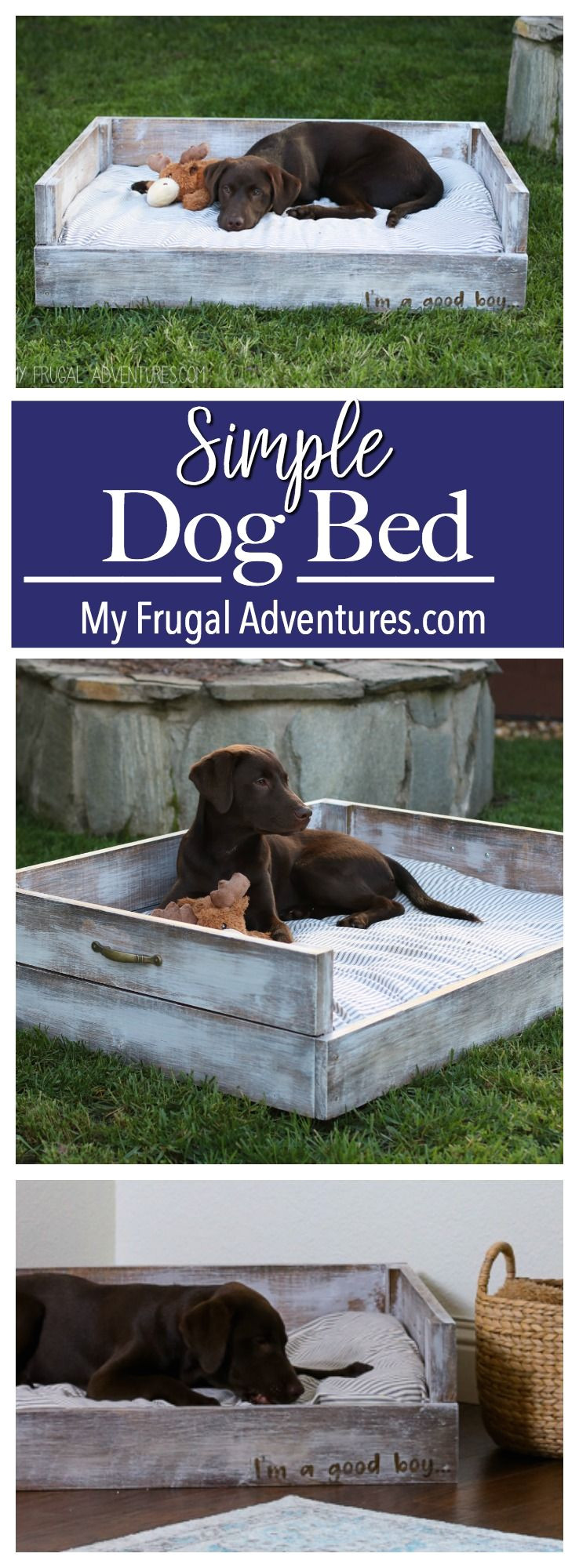 simple diy dog bed customize in any size or color you like