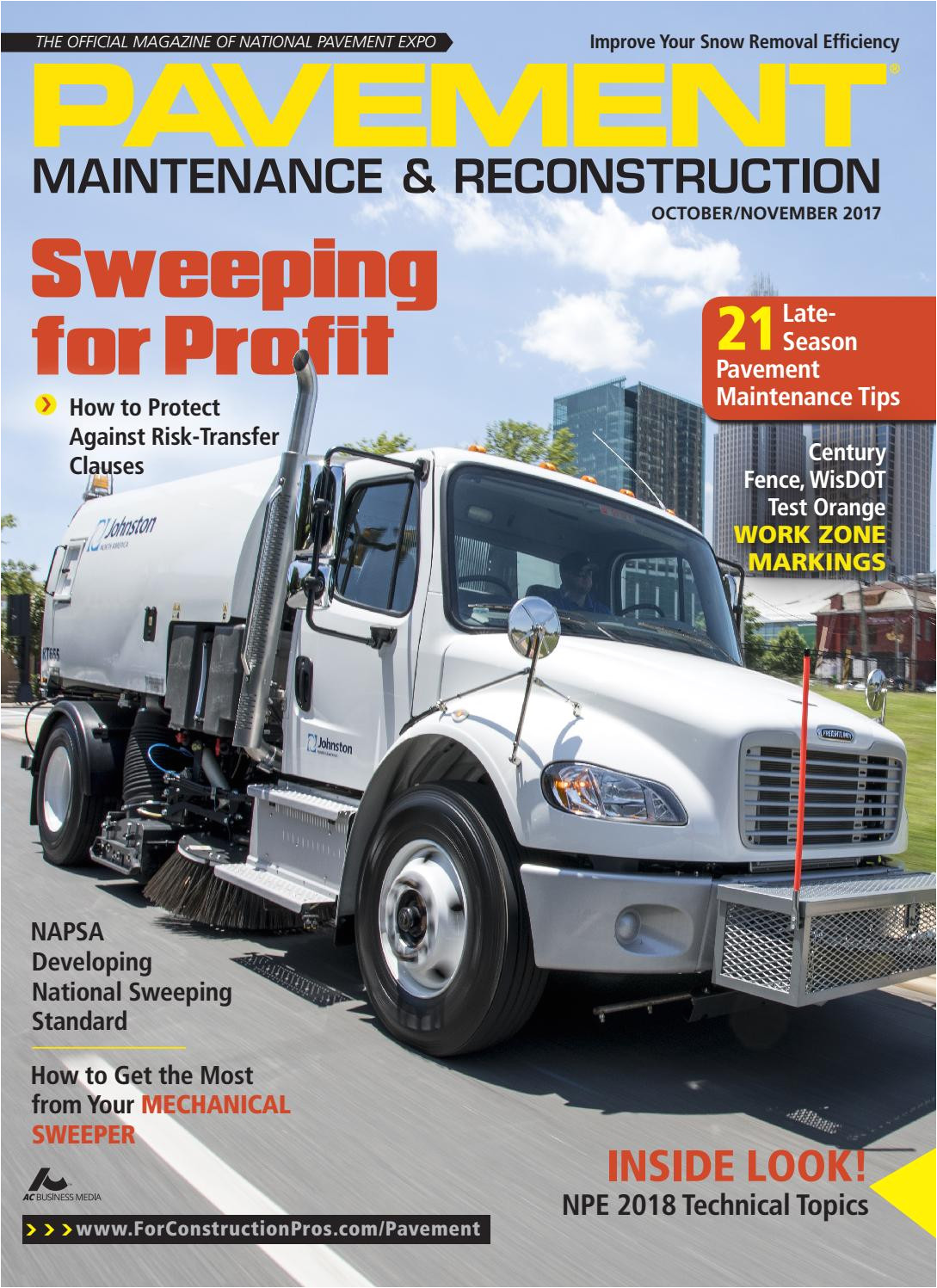 pavement maintenance reconstruction october november 2017 by forconstructionpros com issuu