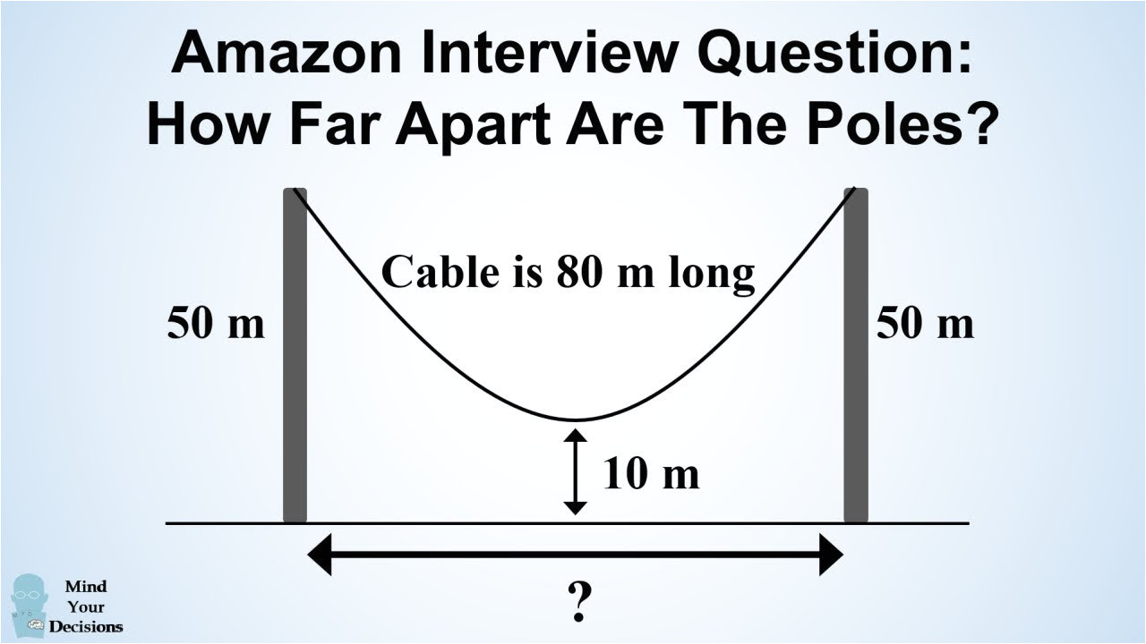 can you solve amazon s hanging cable interview question