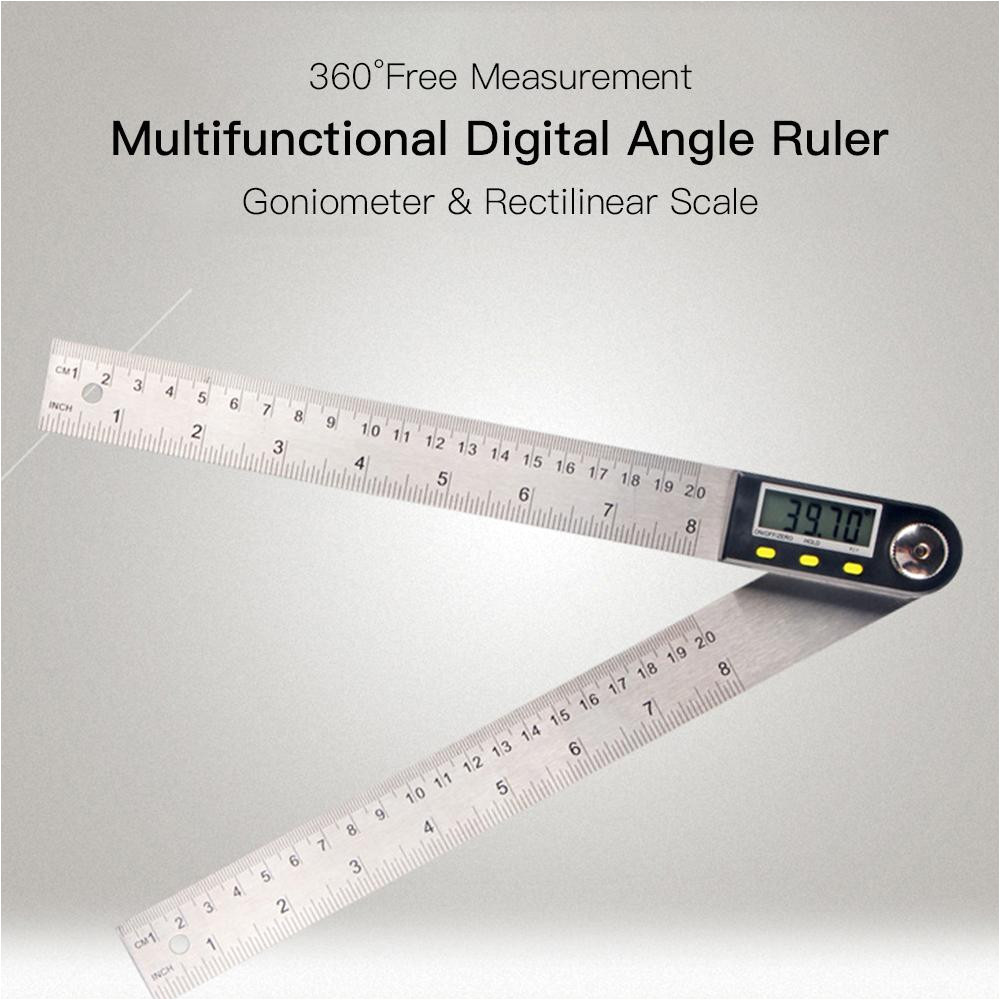 2019 multifunctional measuring tool digital angle ruler 360 lcd display stainless steel electronic goniometer protractor from jiayouwang19820823