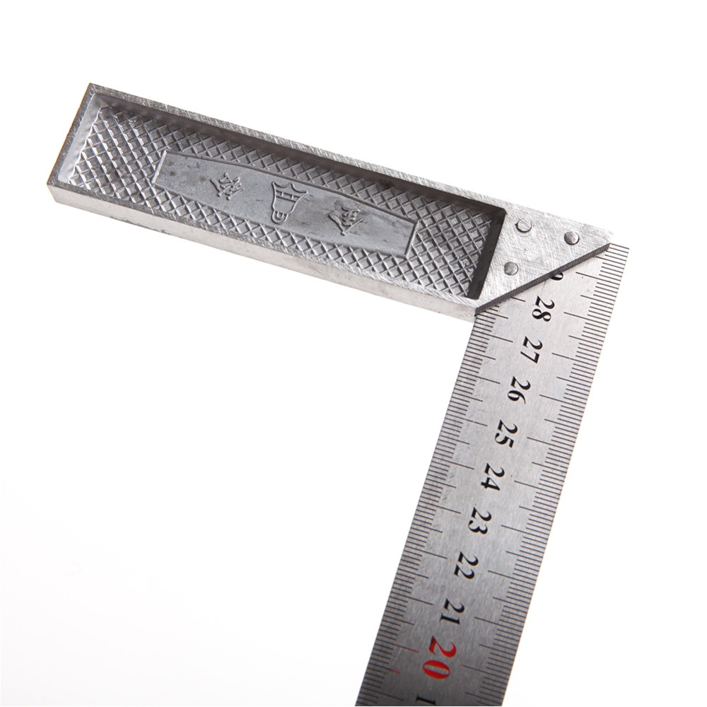 30cm stainless steel right measuring rule tool angle square ruler 0 12 inches in rulers from office school supplies on aliexpress com alibaba group