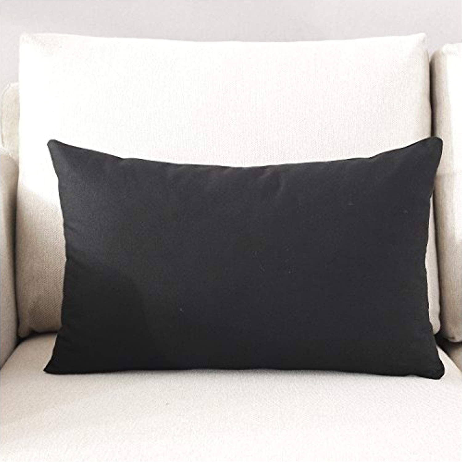 taoson home decorative 100 cotton canvas square solid toss pillowcase cushion cover pillow case with