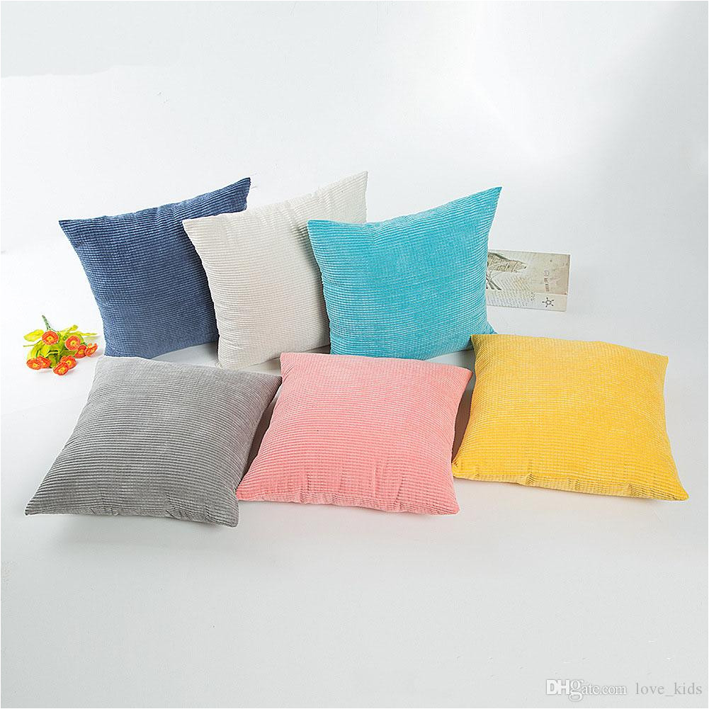 niblet pillow cushion covers pillow case cover pillowcases decorative sofa car home decor candy color 45 45cm bedding pillows decorative baby and pillows