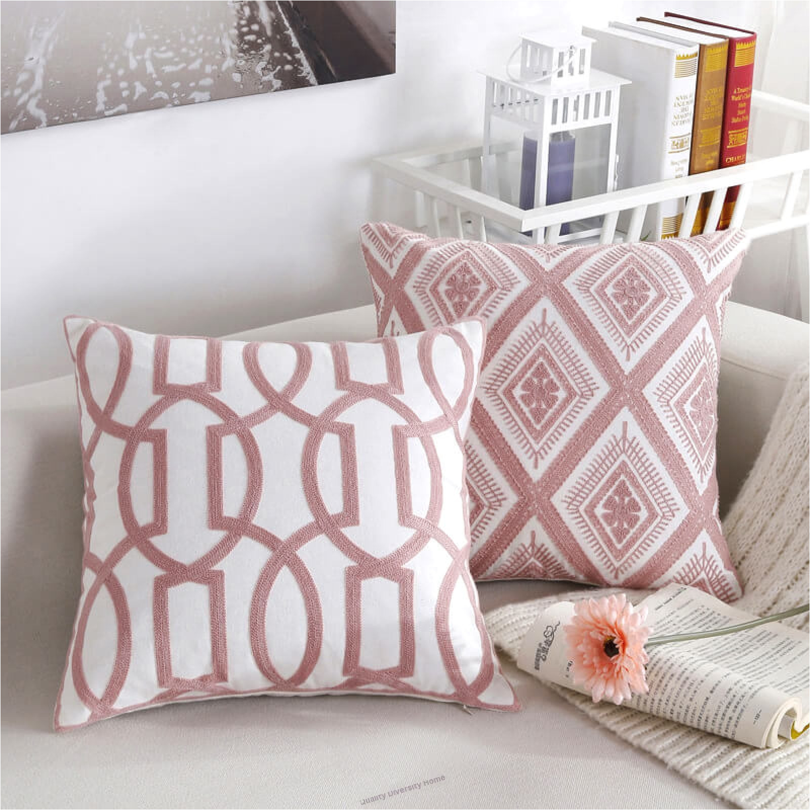 pink series decorative throw pillow case 18 x 18 45cm x 45cm set of 4