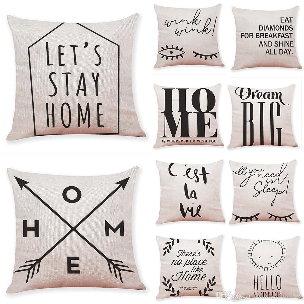 quotes and sayings linen cushion covers home office sofa square pillow case decorative pillow covers new arrival 18 18inch discount outdoor cushions patio