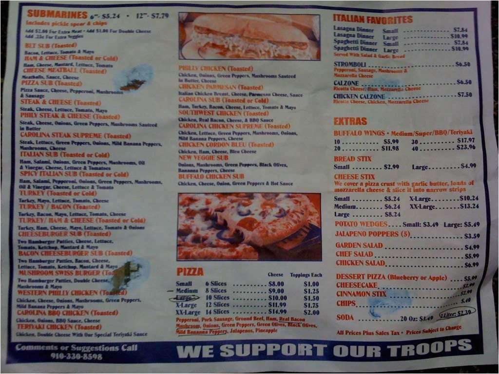 pizza city usa menu
