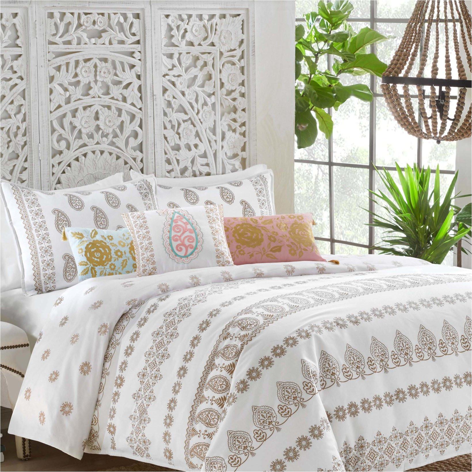 dena designs marielle 100 cotton reversible comforter set reviews wayfair
