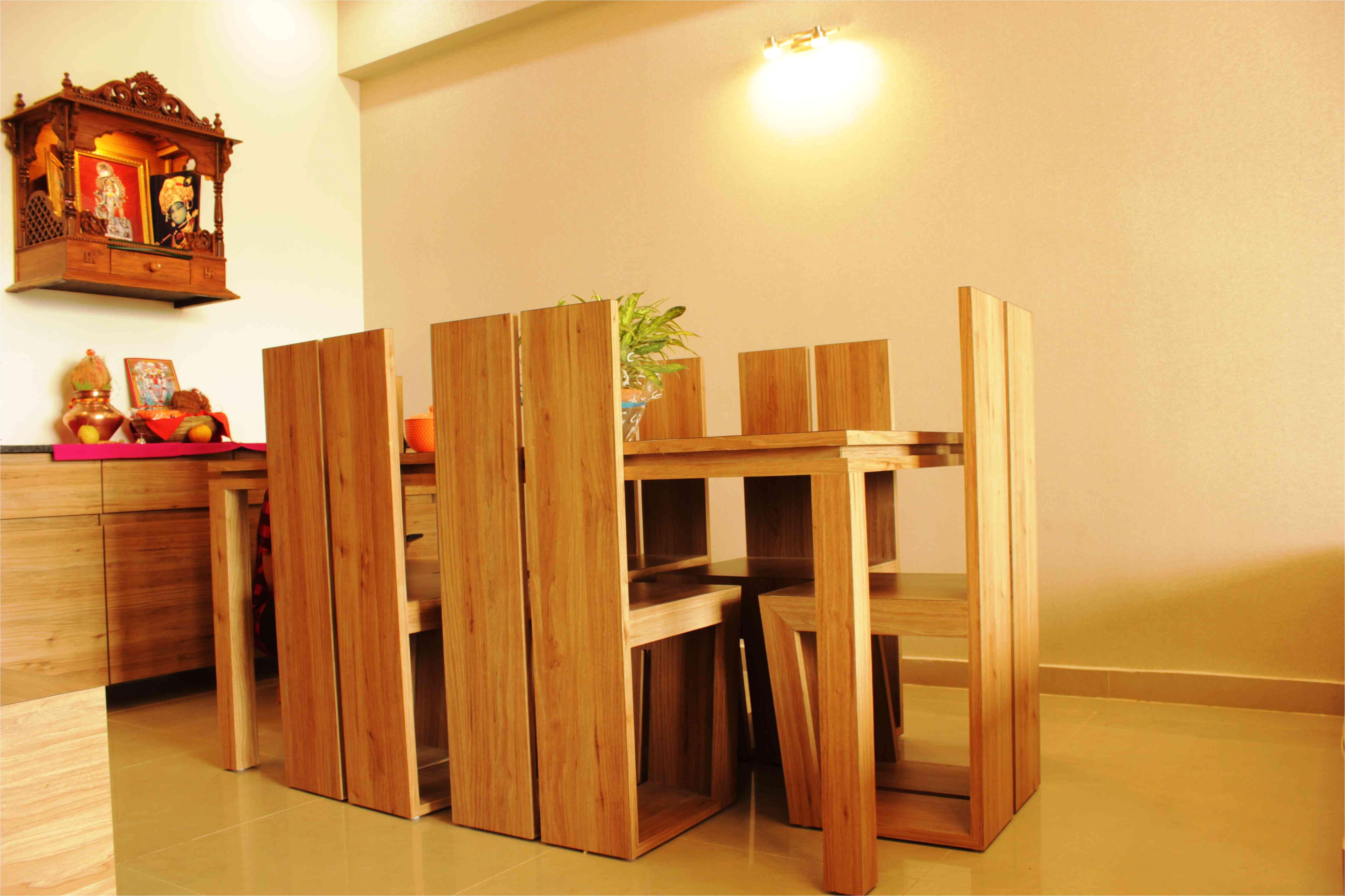 mandir and dining design by siddharth singh