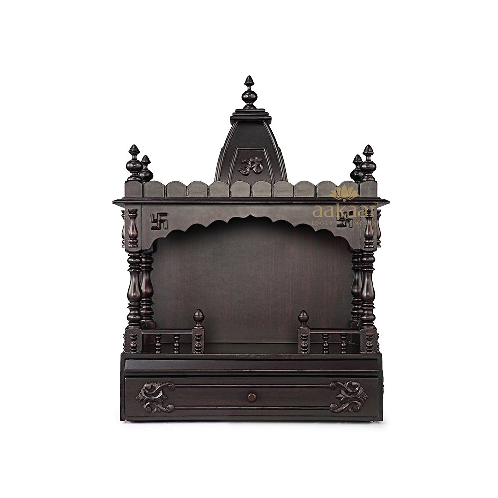 buy aakaar idols temples handcrafted wooden temple 21 vo with dome online at low prices in india amazon in