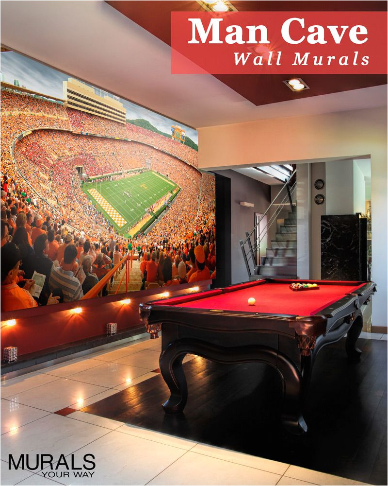 man cave or fan cave take your love of the game to the next level with sports wall murals custom sizes and can even use your own photo mymywmural
