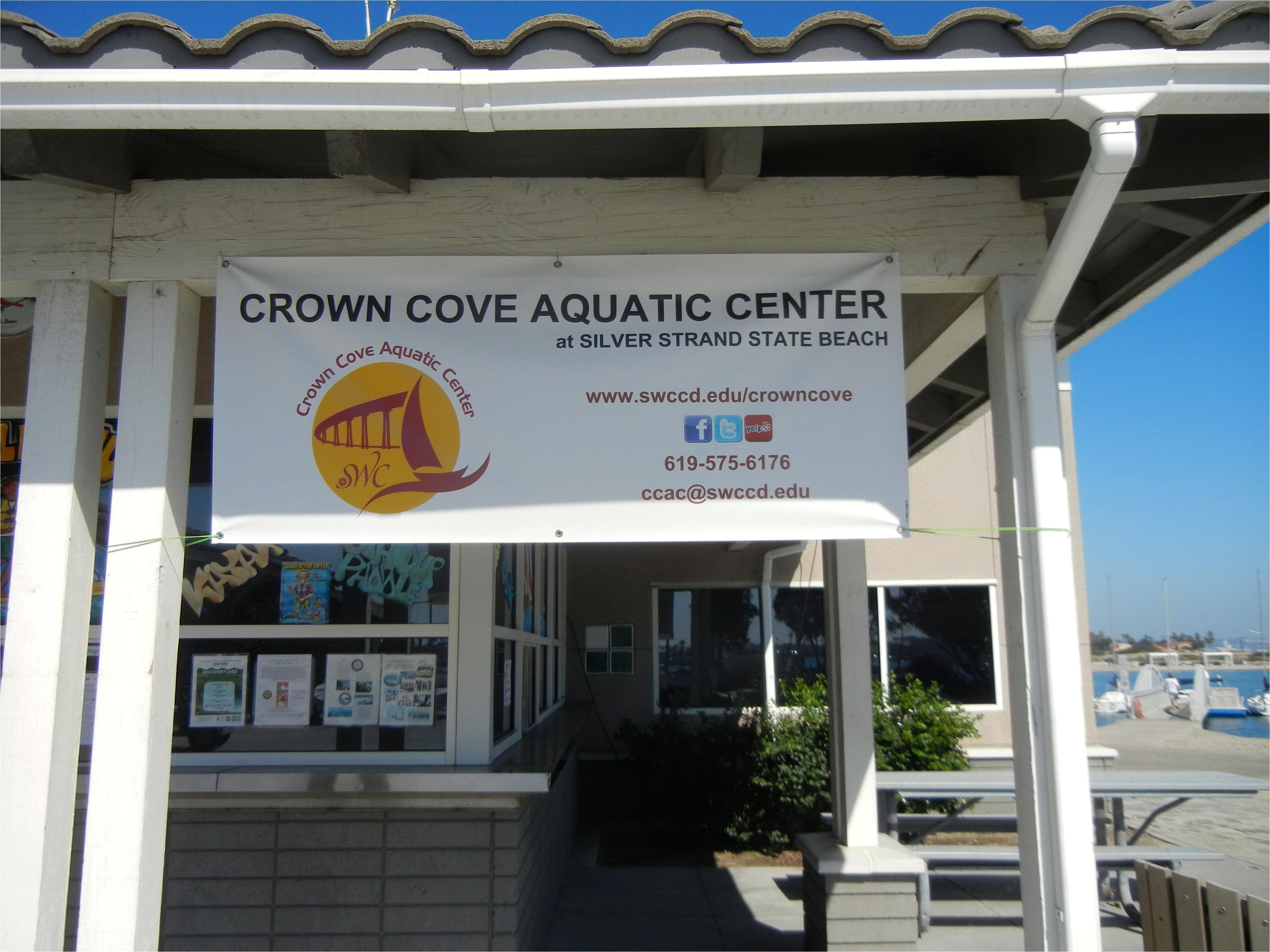 crown cove aquatic center on south san diego bay has rental equipment