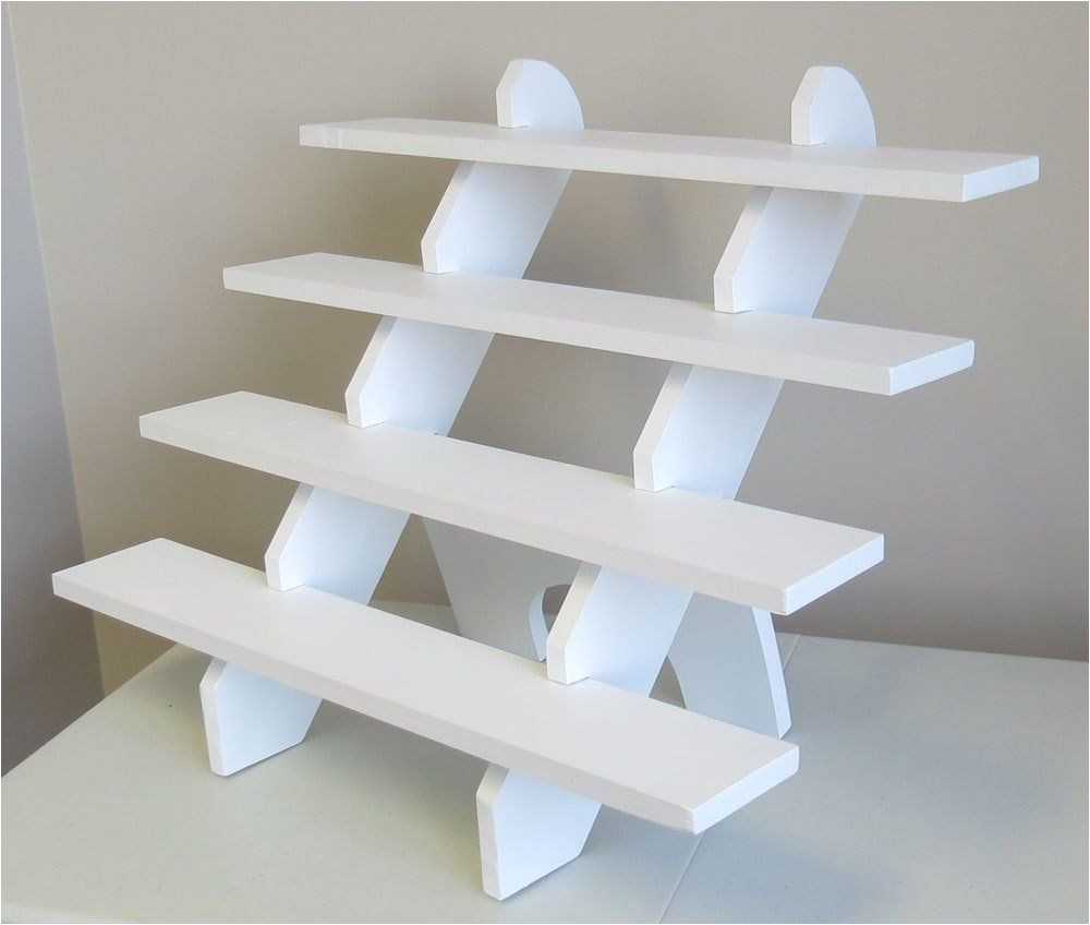 4 shelf 30 wide collapsible riser portable display stand etsy
