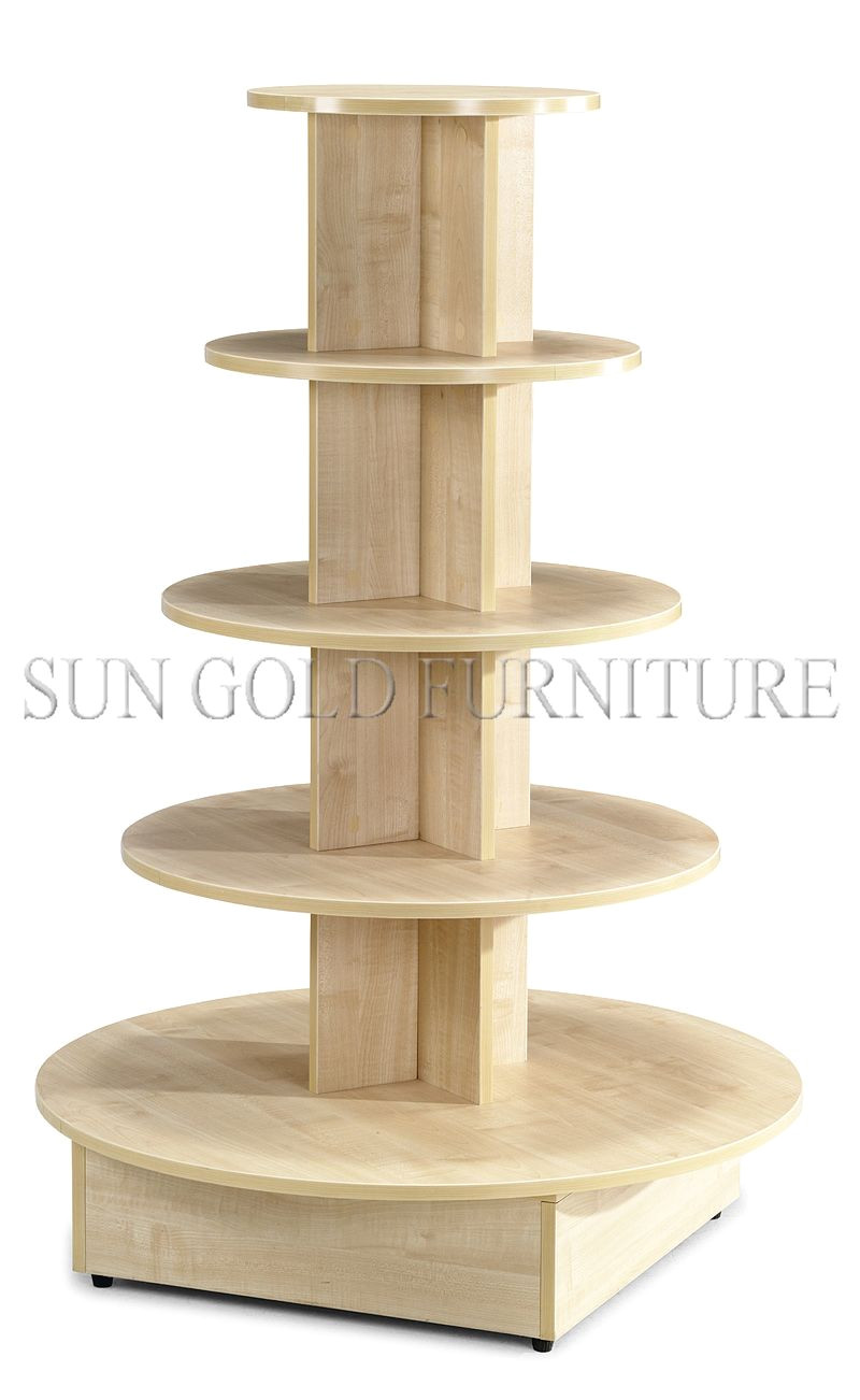 5 tiered round wooden display stand display table sz wdr004